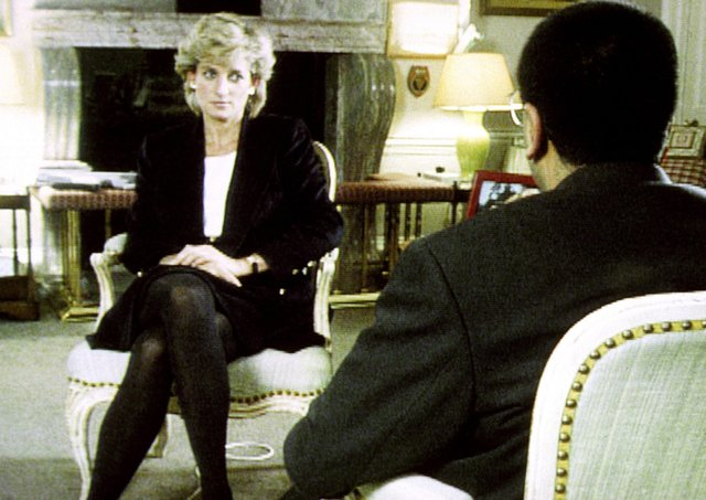 File photo dated 20/11/95 of Diana, Princess of Wales, during her interview with Martin Bashir for the BBC.
