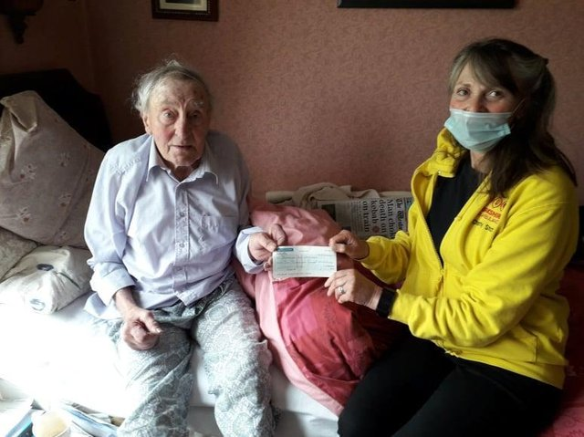 George Houghton is still recuperating at home following the accident