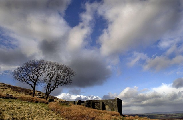 Top Withens high on the Pennine Moors above Haworth. The ruins have long been associated with the Bronte's as the home of the Earnshaws in Emily Bronte's novel 'Wuthering Heights'. Picture: Bruce Rollinson