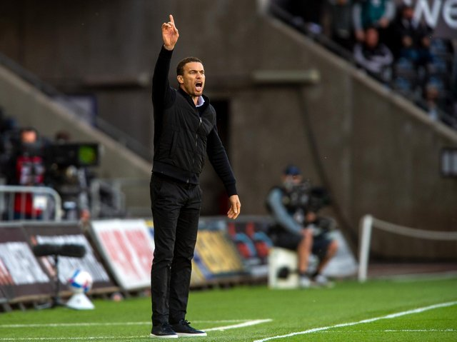 Barnsley head coach Valerien Ismael pictured at Swansea. Picture: Bruce Rollinson.