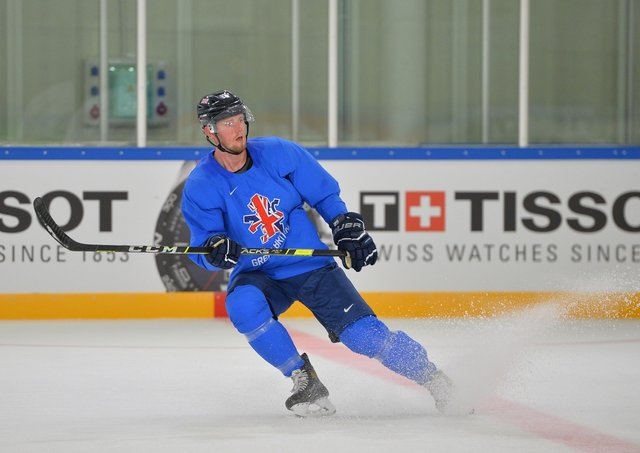 FOCUS: GB and Sheffield Steelers' defenceman Davey Phillips. Picture: Dean Woolley.