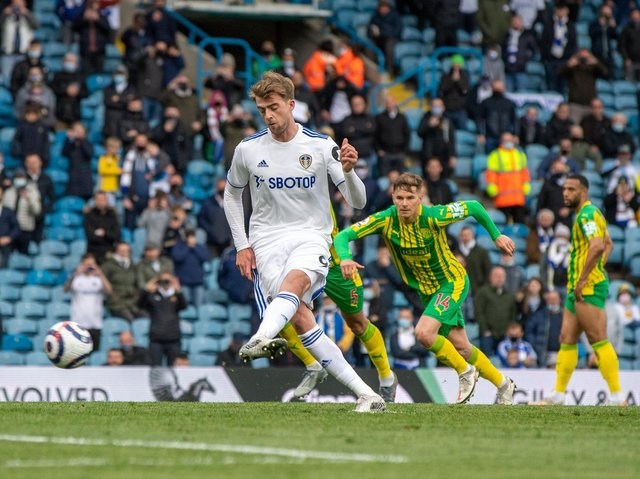 PENALTY: Patrick Bamford gets his goal for Leeds United