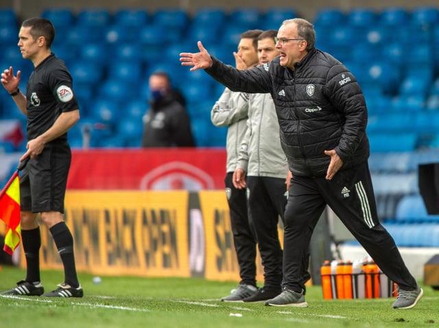 SATISFACTION: Leeds United head coach Marcelo Bielsa