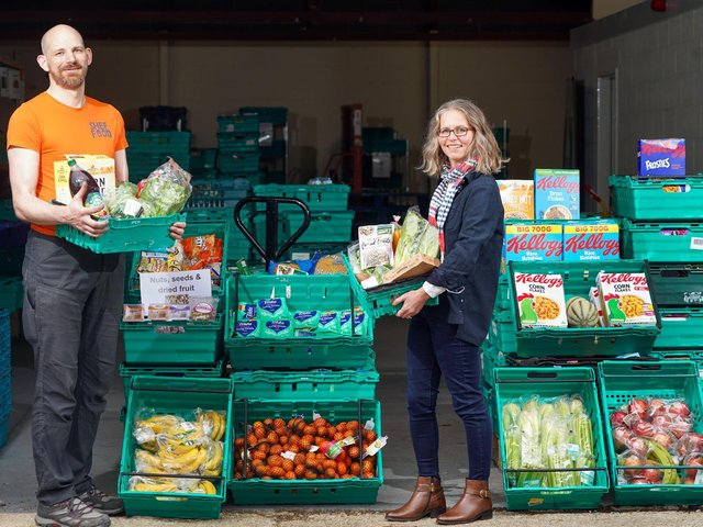 New home: Rene Meijer, CEO at Food Works, with Lupton Fawcett partner Claire Mayfield-Tulip.