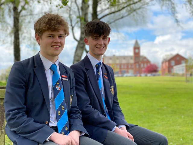 Pictured, Barnaby Sladden (left) and James Kitchingman both from Ripon Grammar School. The talented pair have sung their way to success at highly competitive auditions for prestigious choral scholarships.Photo credit: RGS