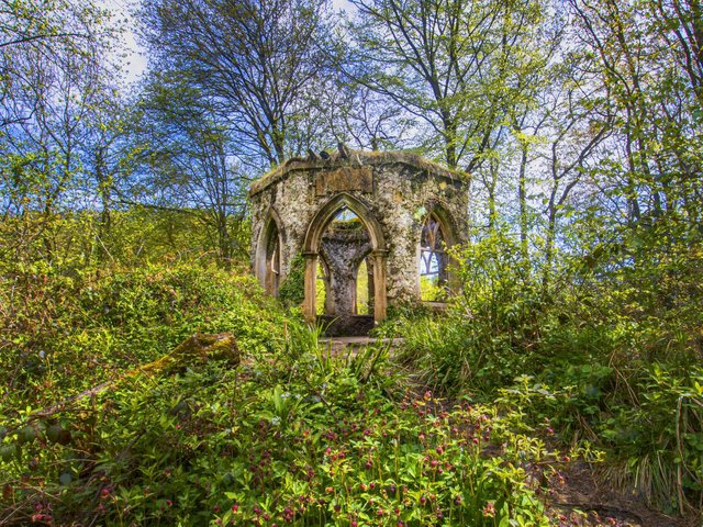 View of Fisher's Hall, one of a number of follies in Hackfall Woods. Picture: Tony Johnson