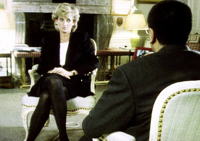 Diana, Princess of Wales during her now infamous Panorama interview with the BBC's Martin Bashir in 1995.