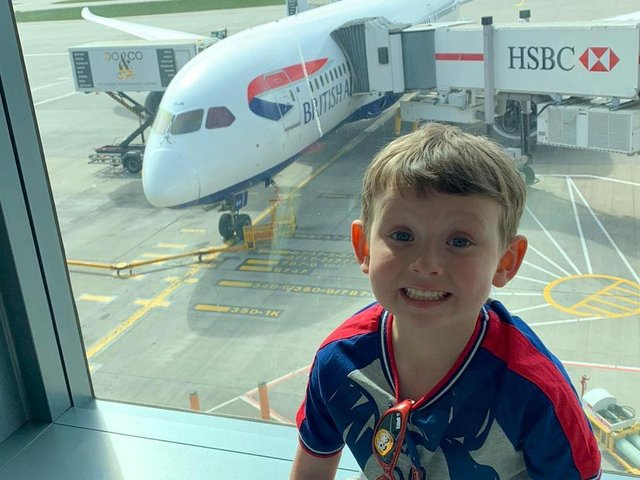 Brave Oliver Stephenson has travelled to New York for a pioneering medical trial aimed at preventing his cancer from returning