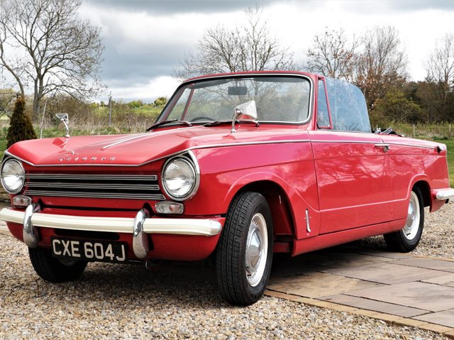 The Triumph Herald going up for sale at auction. (Pic: Tennants)