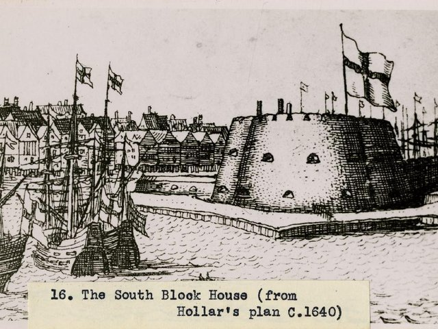 The South Blockhouse commissioned by Henry VIII for the city of Hull's defences Credit: Hull History Centre