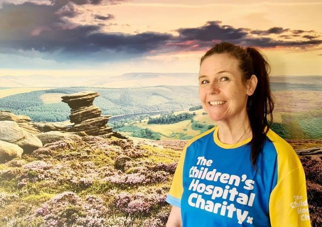Julie Bainbridge who is doing an ultra marathon for the Children's Hospital Sheffield