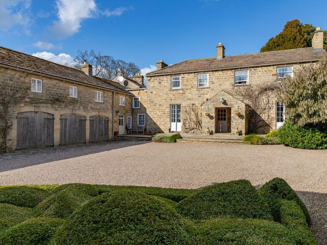 The Old Hall, Jervaulx, which is for sale for £1.995m with joint agents Lister Haigh and Knight Frank