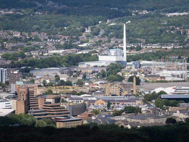View over Huddersfield in Kirklees where guidance for residents quietly changed on Friday over rising cases of the Indian variant of Covid-19. Picture: Getty