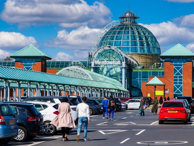 The co-owner of Meadowhall shopping centre in Sheffield saw underlying profit drop.