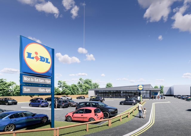The proposed new Lidl store at Birstall.