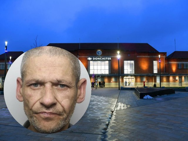 Bernard Hayes (inset) was stopped at Doncaster Railway Station