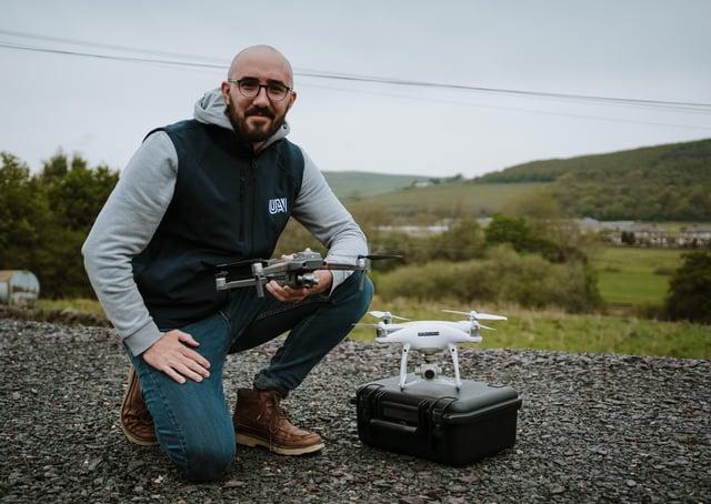 Alex Lester, managing director of UAV Studio in Skipton.