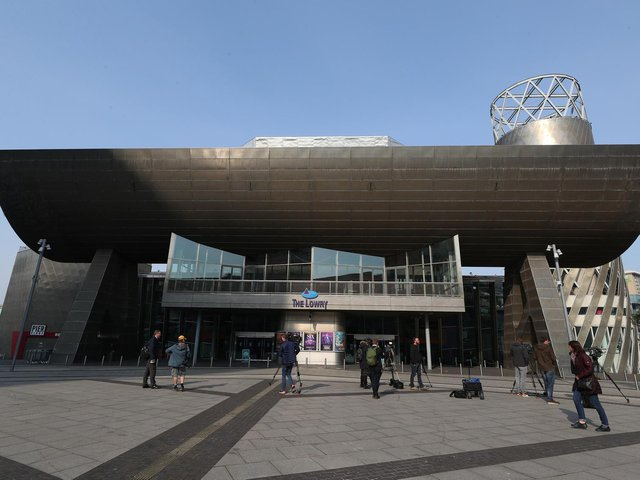 The Lowry Theatre, Salford Quays, Greater Manchester, where the trial collapsed today (May 26).
