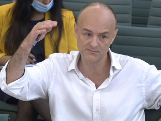 Dominic Cummings, former Chief Adviser to Prime Minister Boris Johnson, giving evidence to a joint inquiry of the Commons Health and Social Care and Science and Technology Committees on the subject of Coronavirus: lessons learnt. Pic: PA