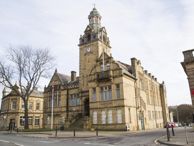 Cleckheaton Town Hall, in the Batley and Spen constituency. Picture: Jim Fitton.