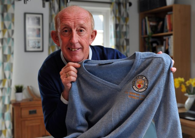 Wembley memories: Mark Lillis with his Manchester City Full Members Cupfinal jersey from 1986.  Picture: Tony Johnson.