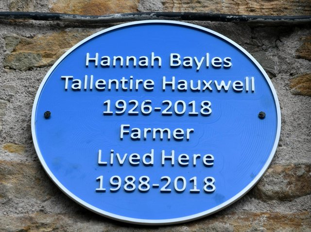Cottage owner Mark Siswick had this blue plaque made in Hannah's memory