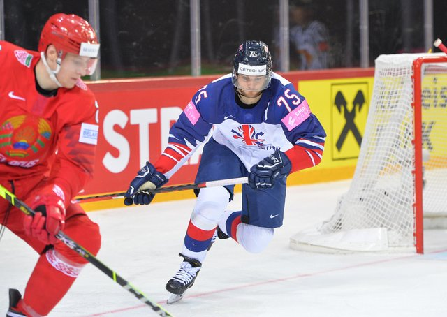 IN THE MIX: Robert Dowd and Great Britain go up against Sweden in Riga today. Picture: Dean Woolley.