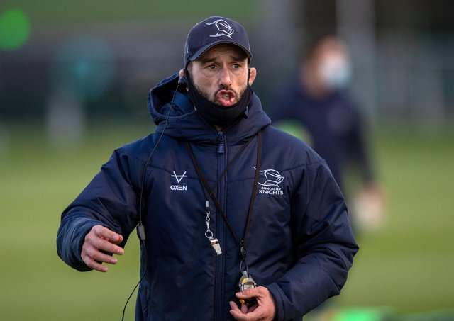 Doncaster Knights' head coach, Steve Boden. Picture: Bruce Rollinson