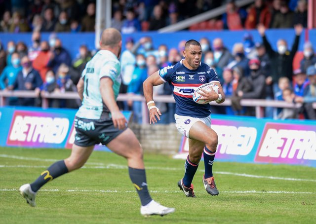 Milestone: Wakefield's Bill Tupou is due to make his 200th career appearance against Huddersfield Giants. Picture:Dean Williams/Alamy Live News