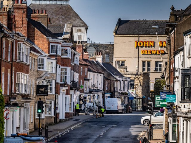 Shire horses in Tadcaster. Picture: James Hardisty.