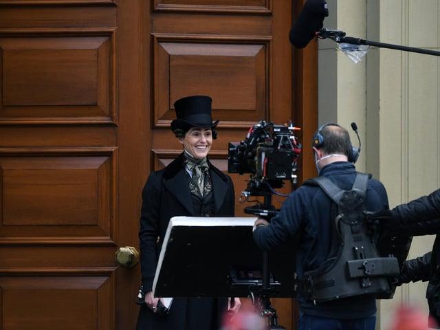 Gentleman Jack being filmed in Saltaire.