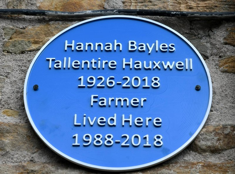 Mark Siswick had this blue plaque made and erected on Hannah's former home in her honour