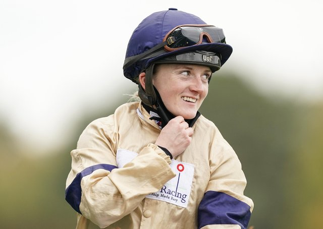 Hollie Doyle after riding Glen Shiel to win the Qipco British Champions Sprint Stakes at Ascot last October.