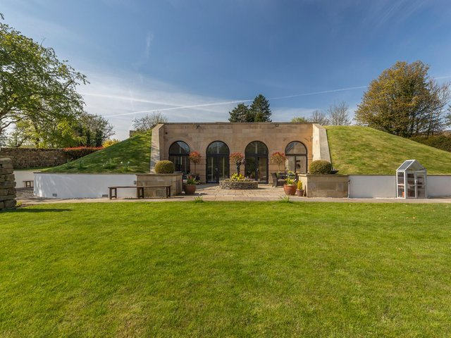The property is a former reservoir, which has been cleverly converted into a light-filled home