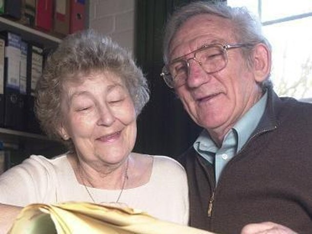 Scarborough FC legend Colin Appleton, right, pictured with his wife Sheila in 2004, has sadly passed away at the age of 85