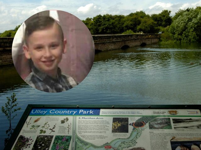 Sam Haycock (inset) died after getting into trouble in the water at Ulley Rervoir (pictured) on Friday