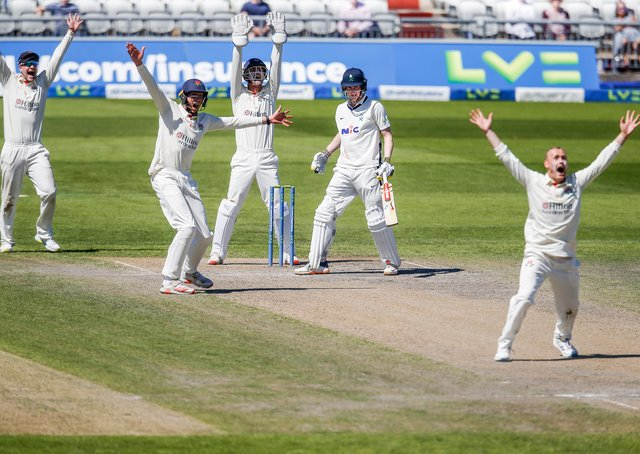 Action from Yorkshire's heavy defeat to Lancashire. Pictures: John Heald