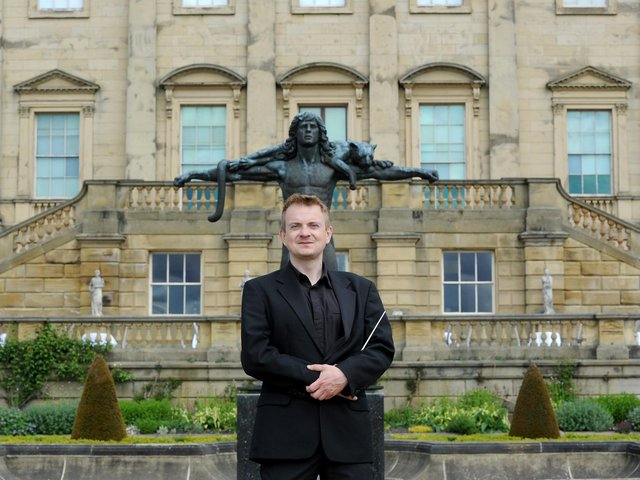 Ben Crick at Harewood House where the Yorkshire Symphony Orchestra will perform in September. (Picture: Gerard Binks).
