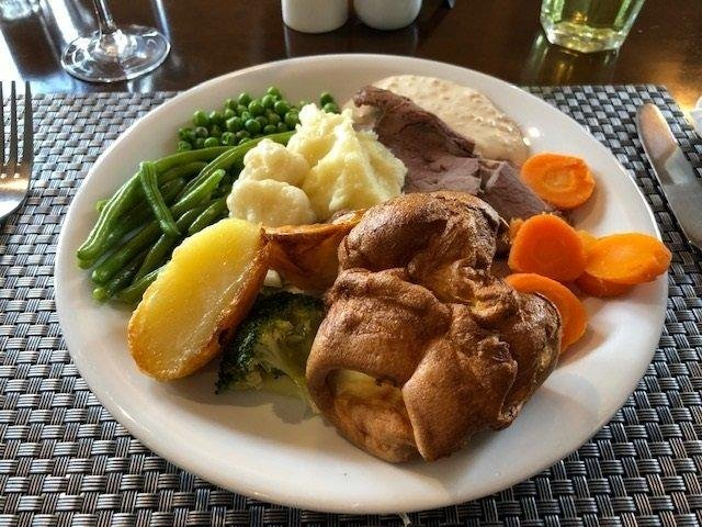 A traditional Sunday lunch of Roast Beef - but where do the ingredients come from?