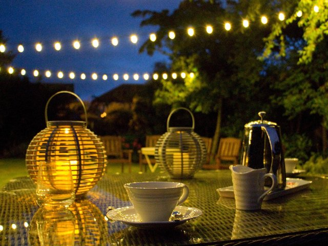 Ambient garden lighting. Picture: Alamy/PA
