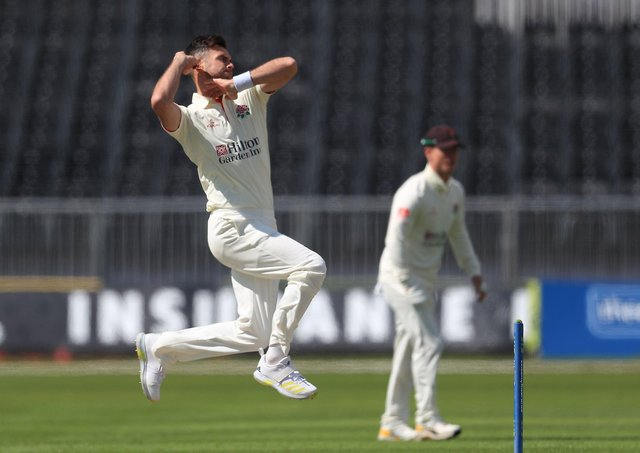 Lancashire's James Anderson: Still going strong.