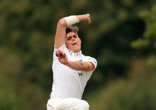 Test hope: Sussex's Ollie Robinson.