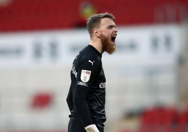 Rotherham United goalkeeper Viktor Johansson: Faces challenge.