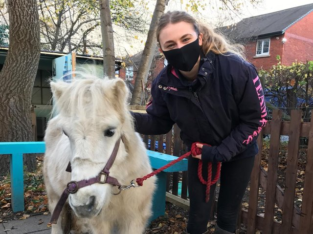 Medical student Lucy Dean, pictured at Heeley City Farm in Sheffield