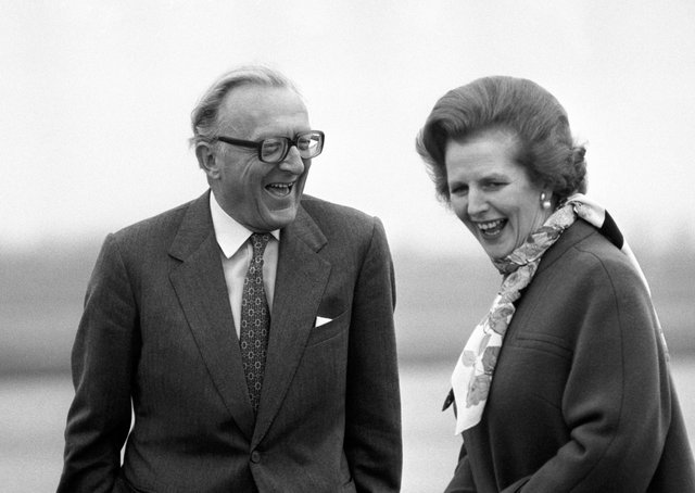 Lord Carrington - pictured with Margaret Thatcher - resigned as Foreign Secretary after Argentinai nvaed the Falklands in 1982.