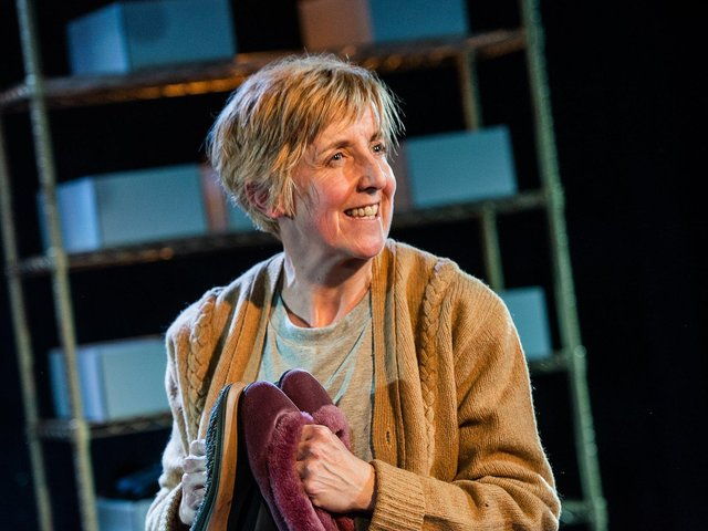 Julie Hesmondhalgh in The Greatest Play in the History of the World; it comes to Hull Truck next week.(Picture: Savannah Photographic).