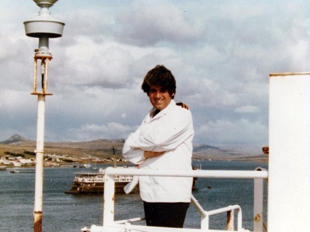Roy Gibson, aka Wendy, who kept spirits up during the Falklands War