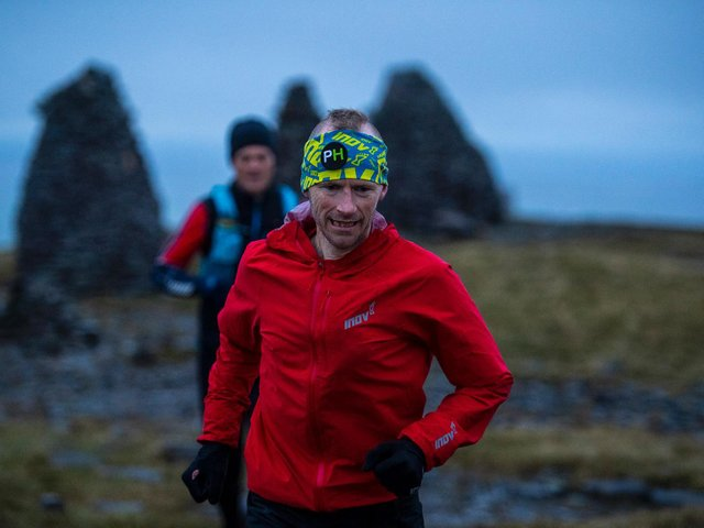 Damian Hall broke a record set 30 years ago when he ran 185-miles across the north of England