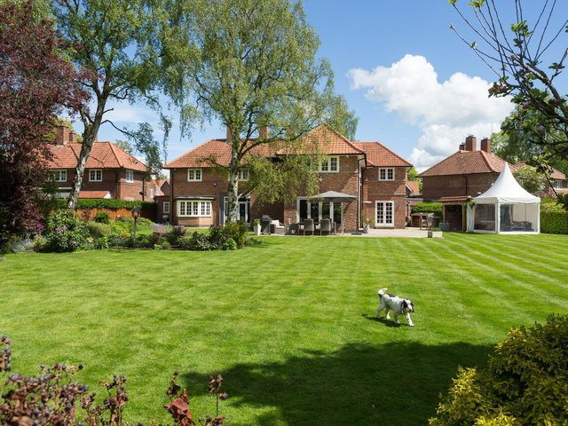 The house is on Rawcliffe Grove, which isone of York's most exclusive addresses