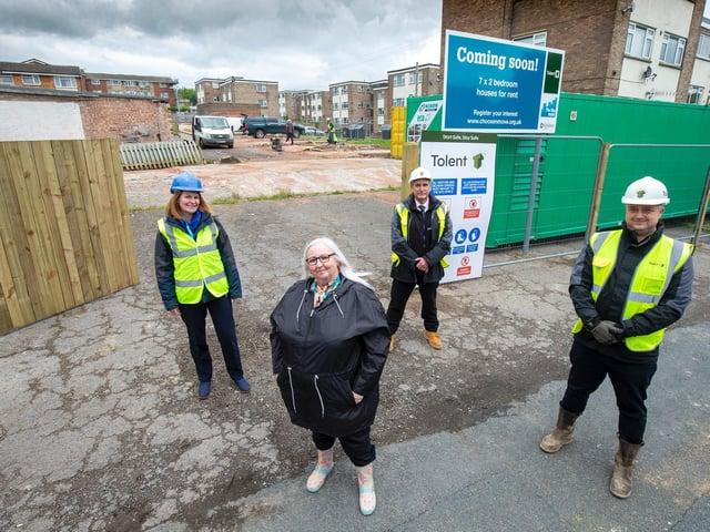 A new housing development is underway in Batley
